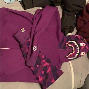 Worn 1x Bape shark hoodie